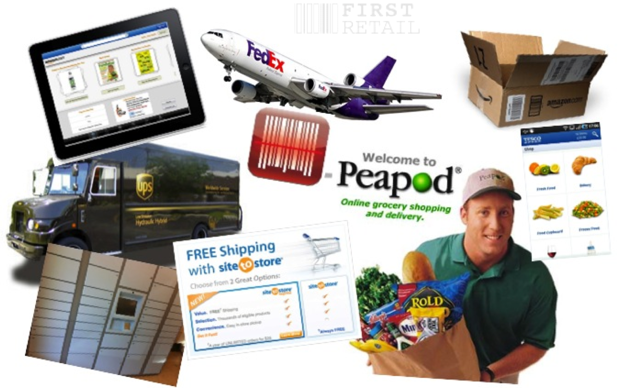 Multi-Channel: iPad, RedLaser, Peapod, UPS, Fedex, Amazon, Tesco, Walmart Site-to-Store