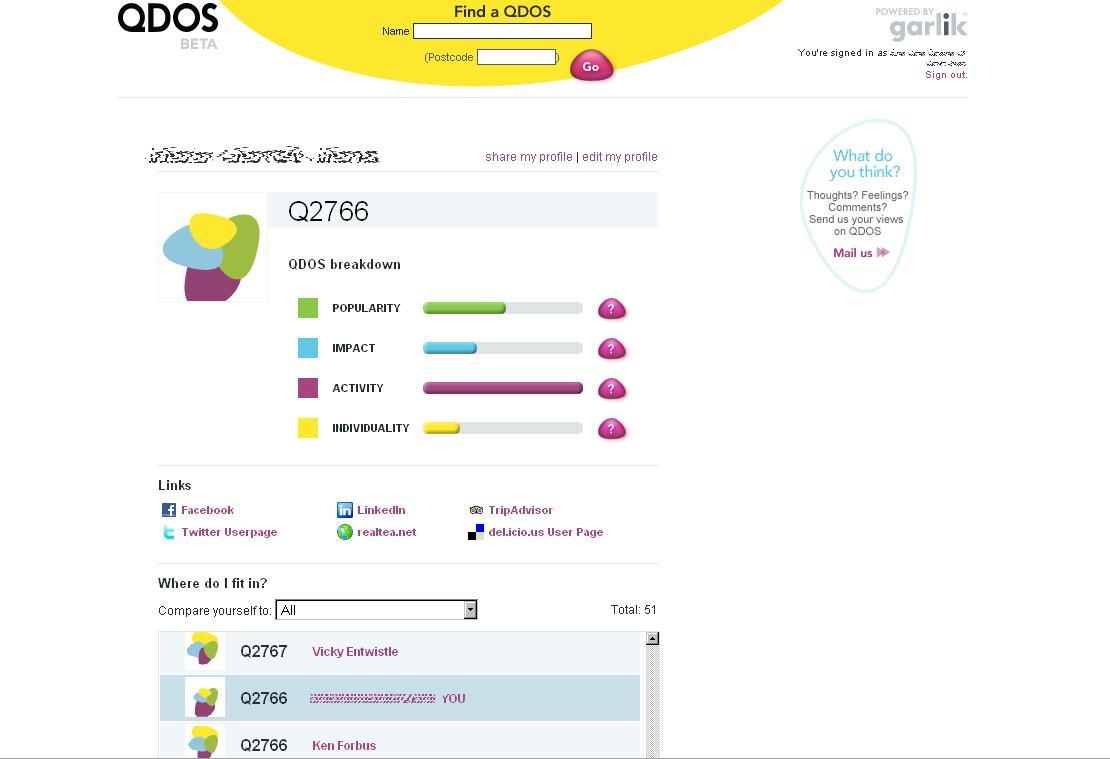 QDOS screen example